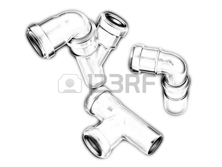 450x339 Imitation Of A Drawing Of Plumbing Pipes Stock Photo, Picture