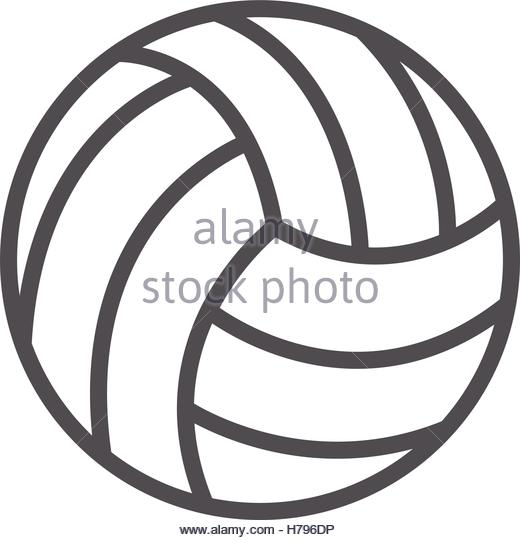 520x540 Volleyball Ball Black Simple Icon Stock Photos Amp Volleyball Ball