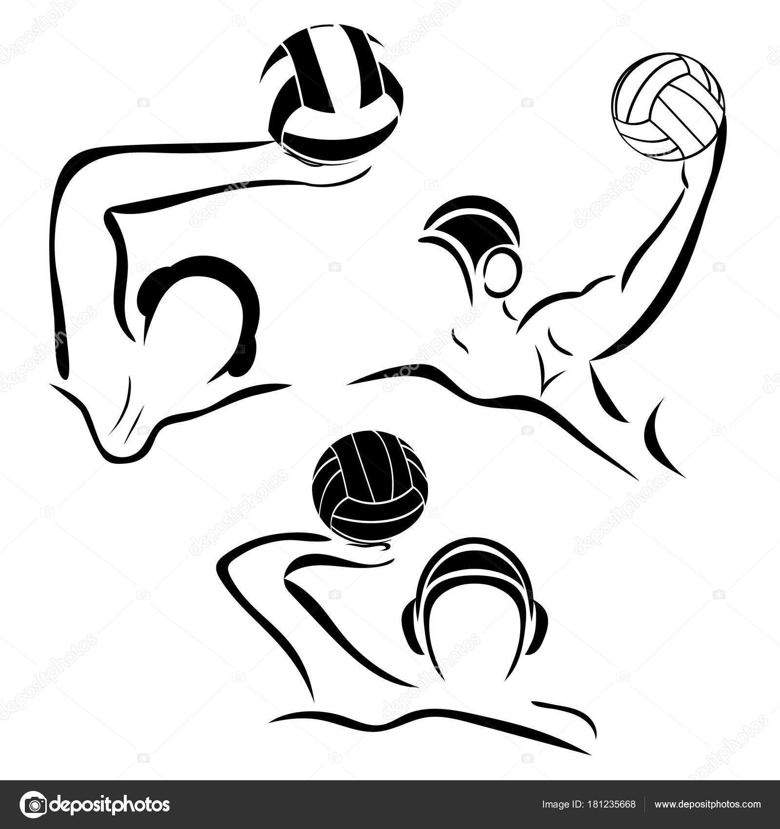 1600x1700 Water Polo Player Water Polo Vector Image Gate Swimmer Ball