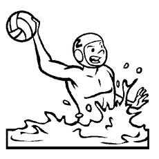230x230 Water Polo Coloring Pages Water Polo Ball Coloring Page Blank