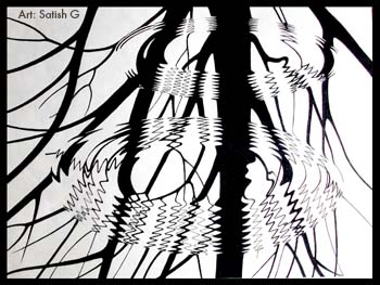 350x263 Roots Amp Ripples' By Satish G Tools Used Pencil And Add Gel Pen