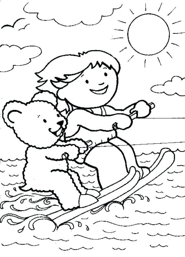 Water Ski Drawing At GetDrawings