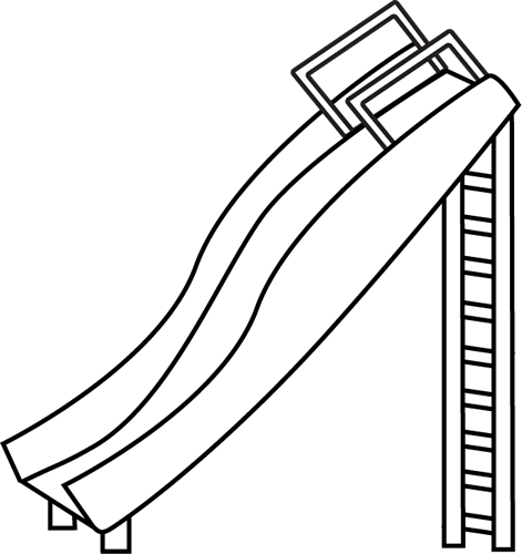 471x500 Black And White Slide Clip Art