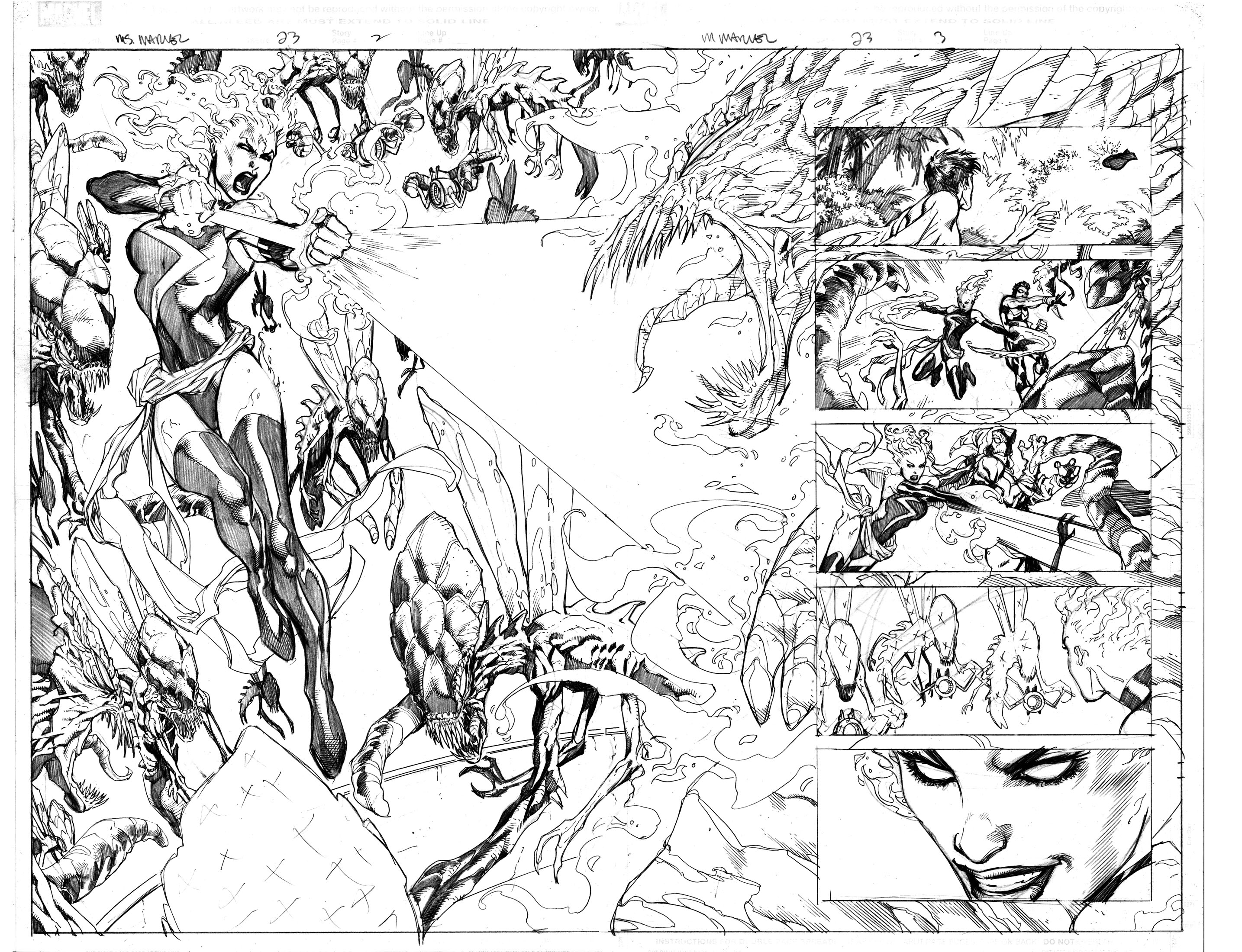 2869x2200 Favorite Projects Ms. Marvel Splash Pages Part 3 Aaron Lopresti