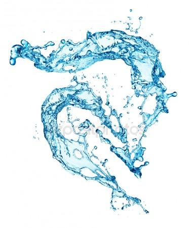 375x450 Blue Water Splash Isolated Stock Photo Irochka