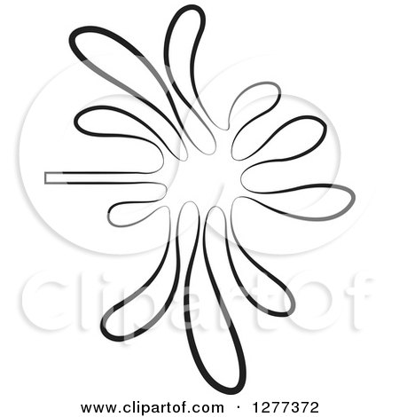 450x470 Clipart Of A Black And White Water Splash