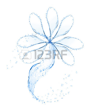 378x450 Green Leaves And Water Splashing Shaped As Heart Frame, Isolated