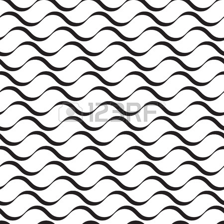 450x450 Water Seamless Pattern. Background Of Curled Abstract Blue Waves