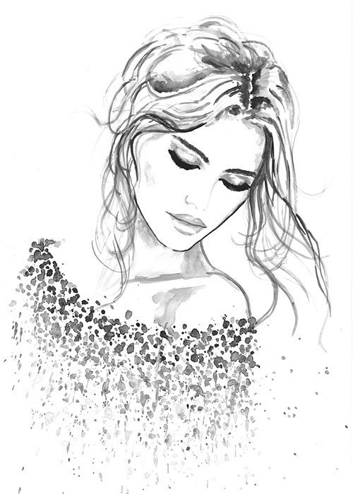 500x700 Watercolor Portrait Illustrations By Natalia Turea Face