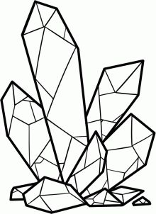 220x302 Cluster Of Crystals Drawing