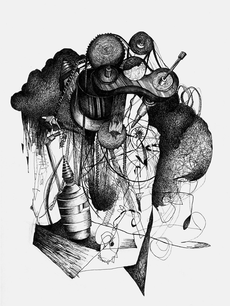 753x1000 8 By 10 Inch Ink Drawing On Watercolor Paper By Milkman620