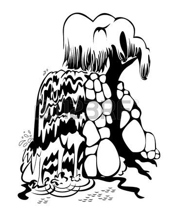 Waterfall Cartoon Drawing
