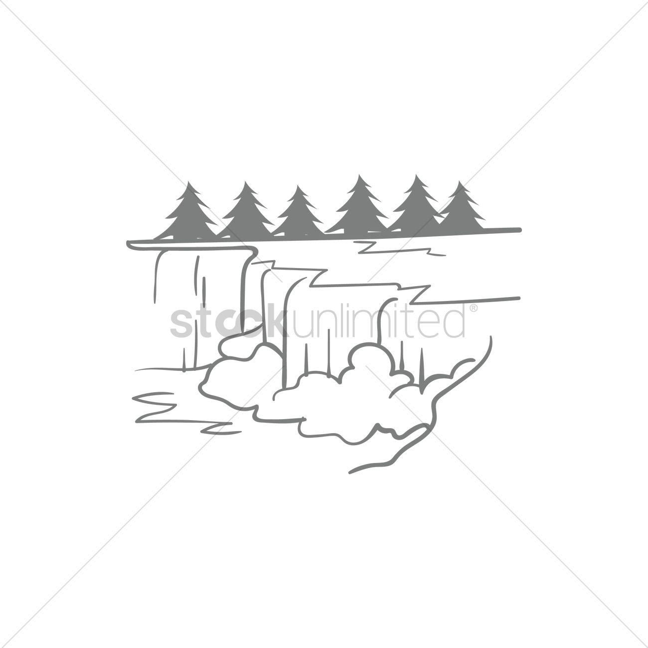 1300x1300 Niagara Falls Vector Image