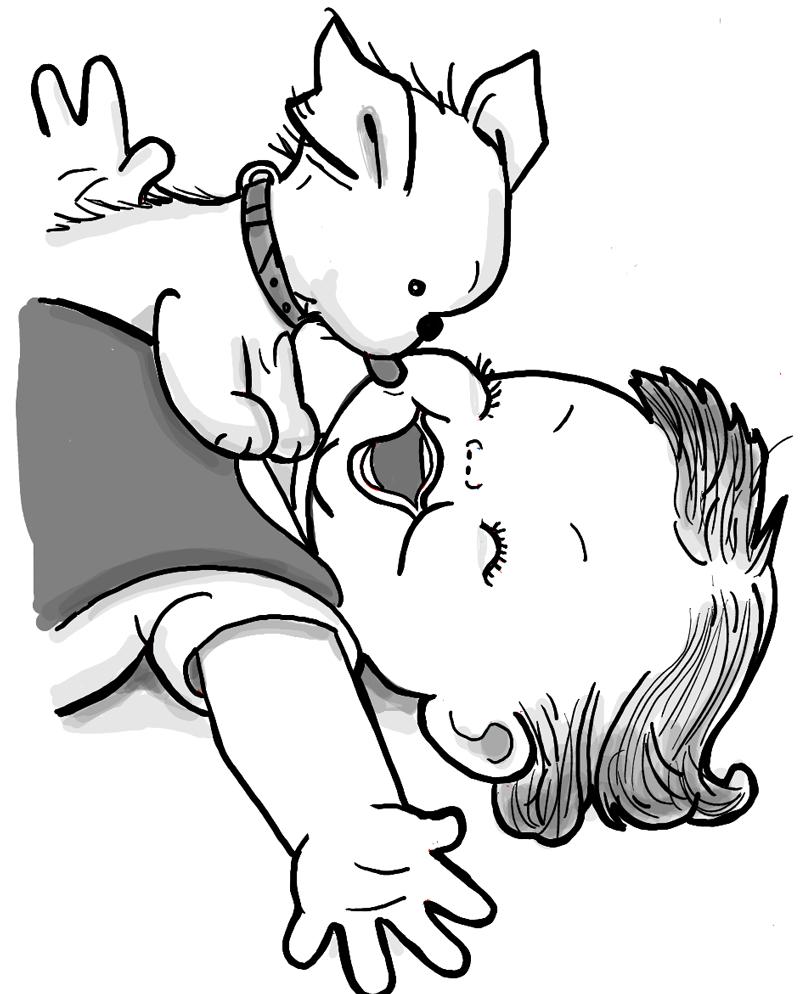 800x994 Puppy Cartoon Drawing Labrador Puppy