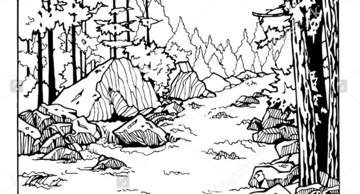728x393 River Scene Coloring Page Best Photos Of River Coloring Pages