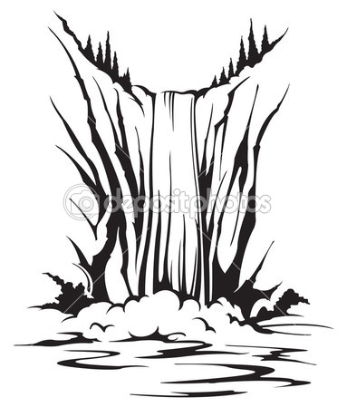 383x449 Waterfall Vector Stock Photos, Illustrations And Vector Art