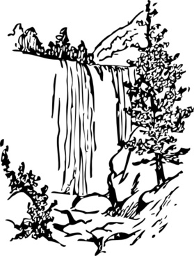 279x368 Waterfall Vector Free Download Free Vector Download (8 Free Vector