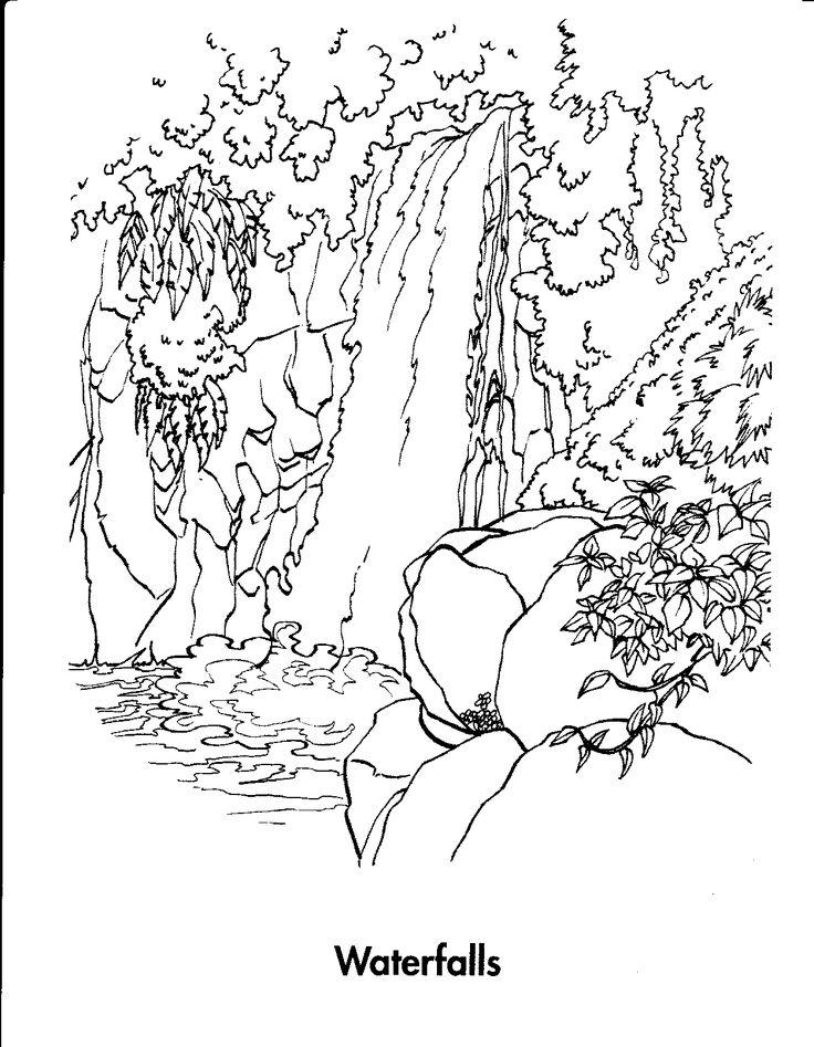 Waterfalls Drawing