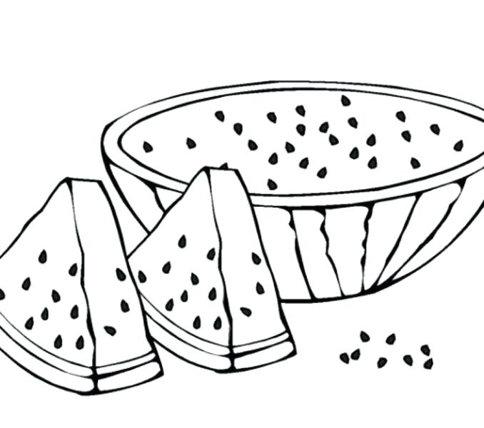 Watermelon Line Drawing At GetDrawings