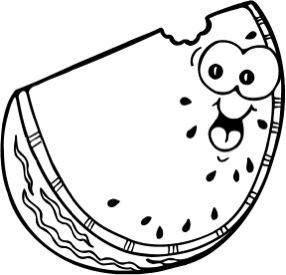 286x275 Watermelon Slice Blackline Masters ~ Templates ~ Patterns