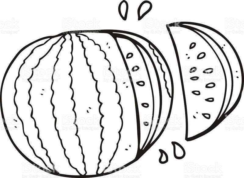 800x585 Watermelon Slice Clipart Black And White