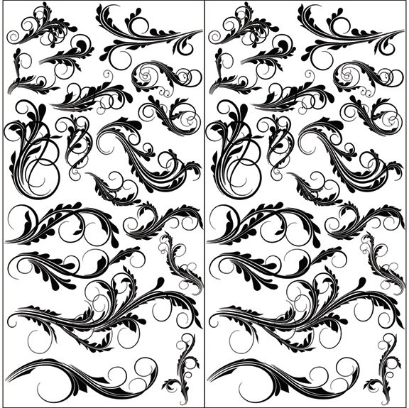 576x575 Design Elements 18 Glass Decal Ceramic Decal Fusible Glass