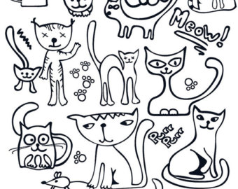 340x270 Meow Decal Etsy