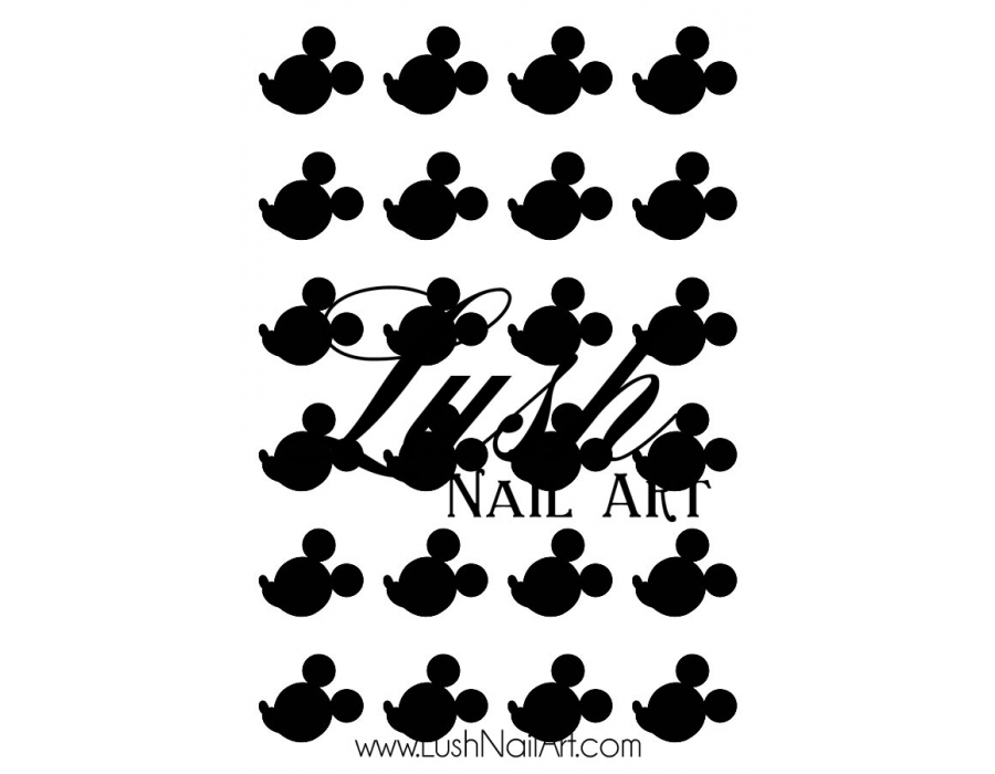 900x700 Mouse Ears Side View Disney Nail Art Water Transfer Decal