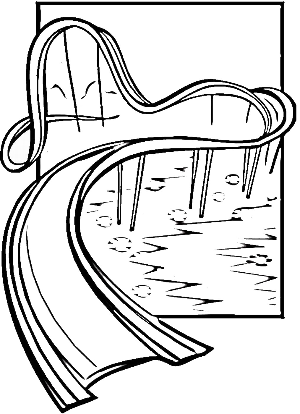 1015x1400 Water Slide Coloring Pages Water Slide Cartoon