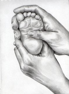 236x319 Custom Charcoal Drawing From Your Photo Of Baby Hands (Not