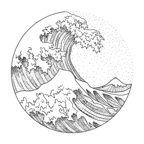 Wave Line Drawing
