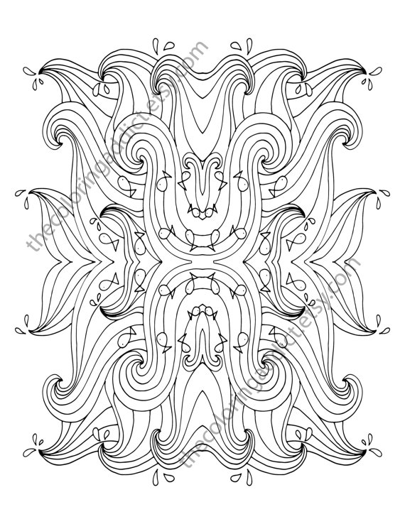 570x738 Ocean Wave Adult Coloring Page Beach Adult Coloring Sheet