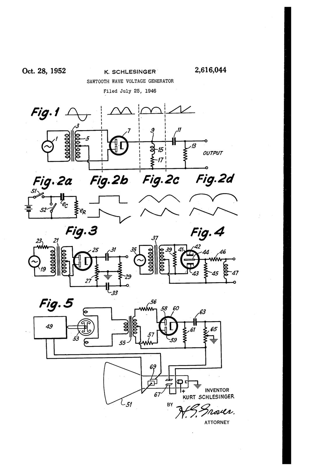 1100x1616 Patent Us3221259 Sawtooth Waveform Generator Employing Drawing