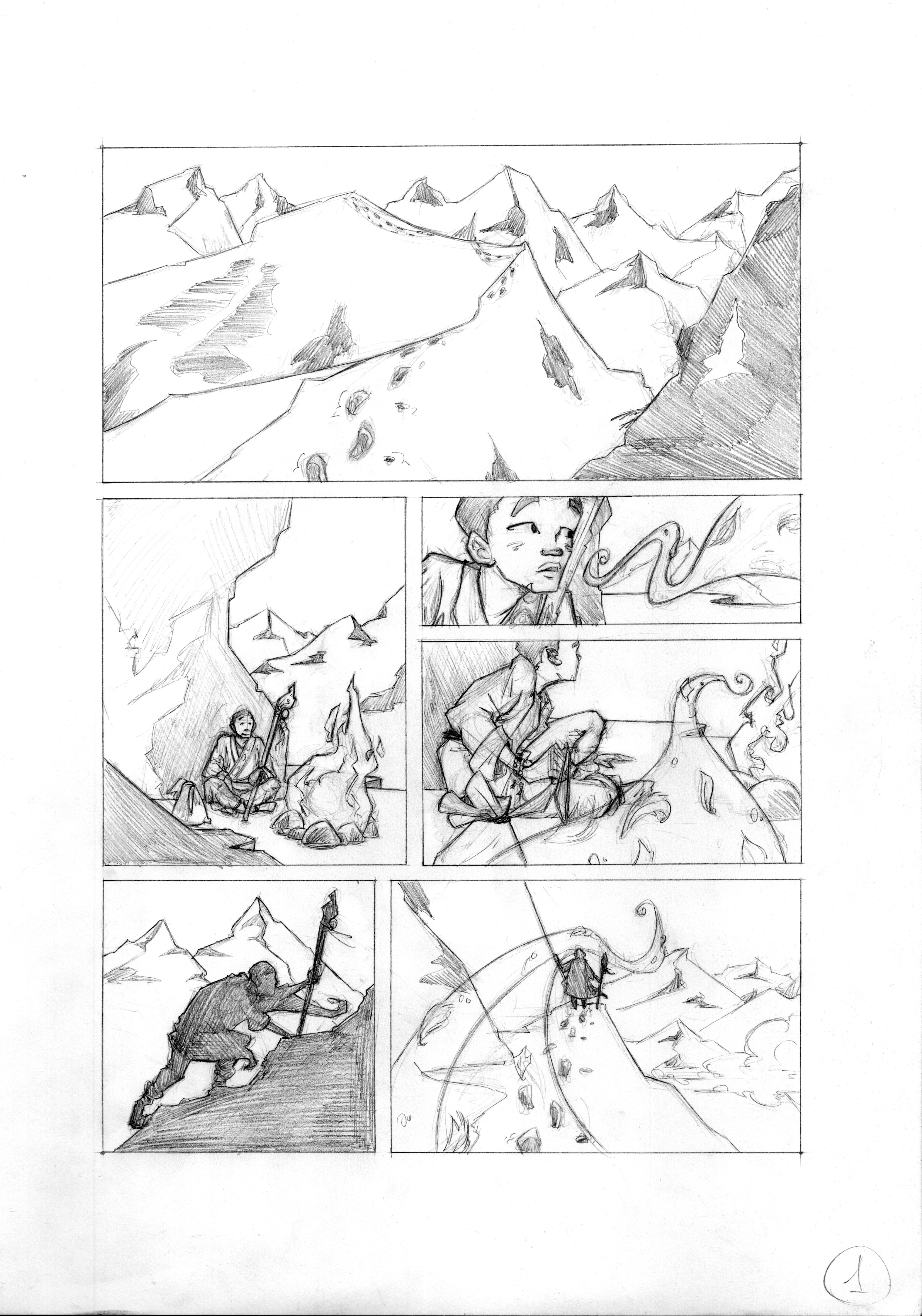 3413x4873 Comic Page, Pencil,comic,cartoon,character Design,travel,journey