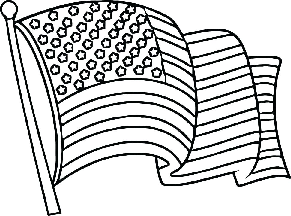 970x719 American Flag For Coloring Flag Coloring Pages Kids Printable