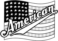 236x168 Realistic American Flag Coloring Page Kids Colouring Pages