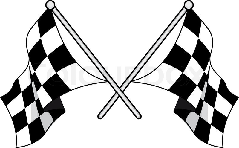800x495 Crossed Black And White Checkered Flags Used In Motor Sport