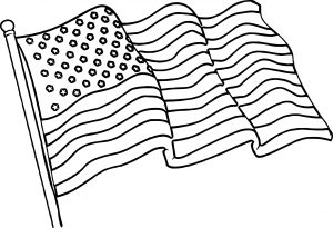 300x205 American Flag Coloring Pages Printable Kids Central