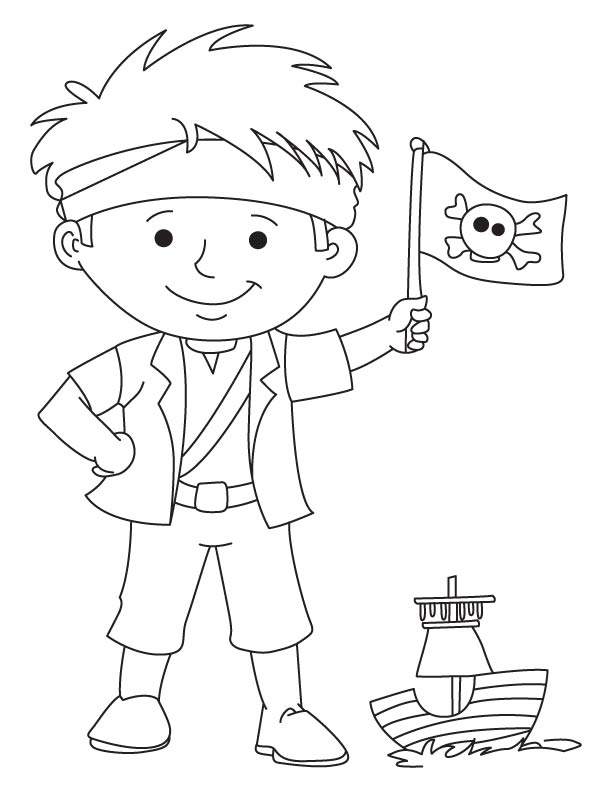 612x792 Pirate Flag Coloring Pages