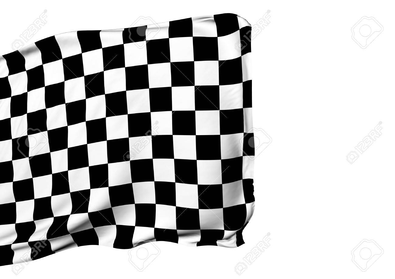 1300x919 Background With Waving Racing Three Dimensional Checkered Flag