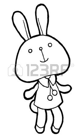 266x450 Cute Rabbit Vector Watercolor Hand Drawing Sketch Illustration