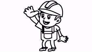 320x180 Strawberry Cartoon Character Waving Hand. Animation Motion