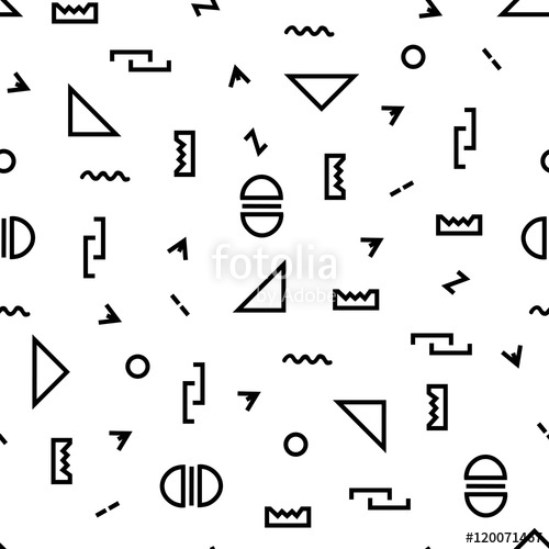 500x500 Geometric Vector Pattern With Blacknd White. Form Triangle,