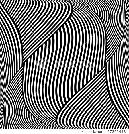 450x468 Op Art Wavy Lines Pattern.