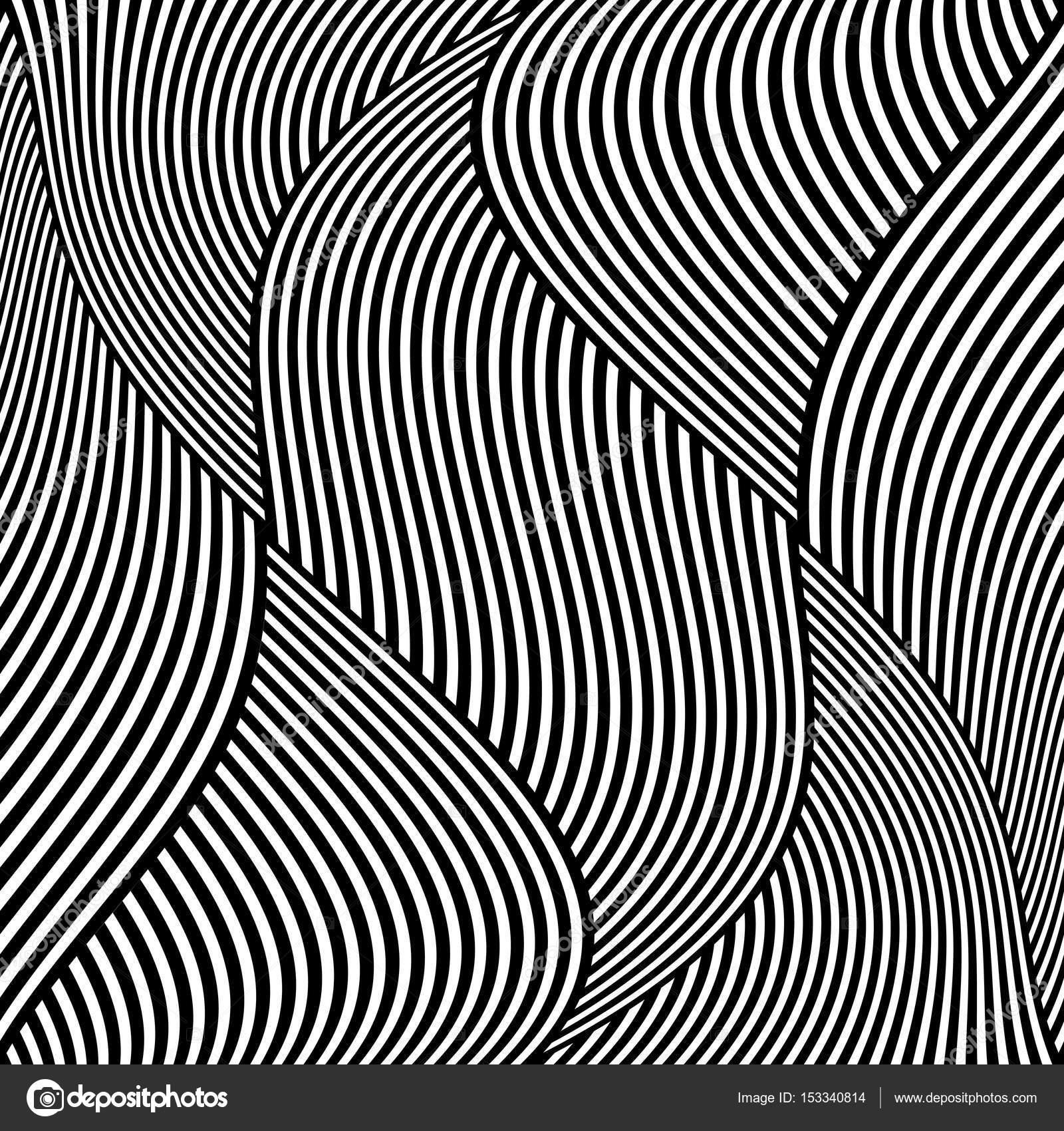 1600x1700 Op Art Wavy Lines Pattern. Stock Vector Troyka