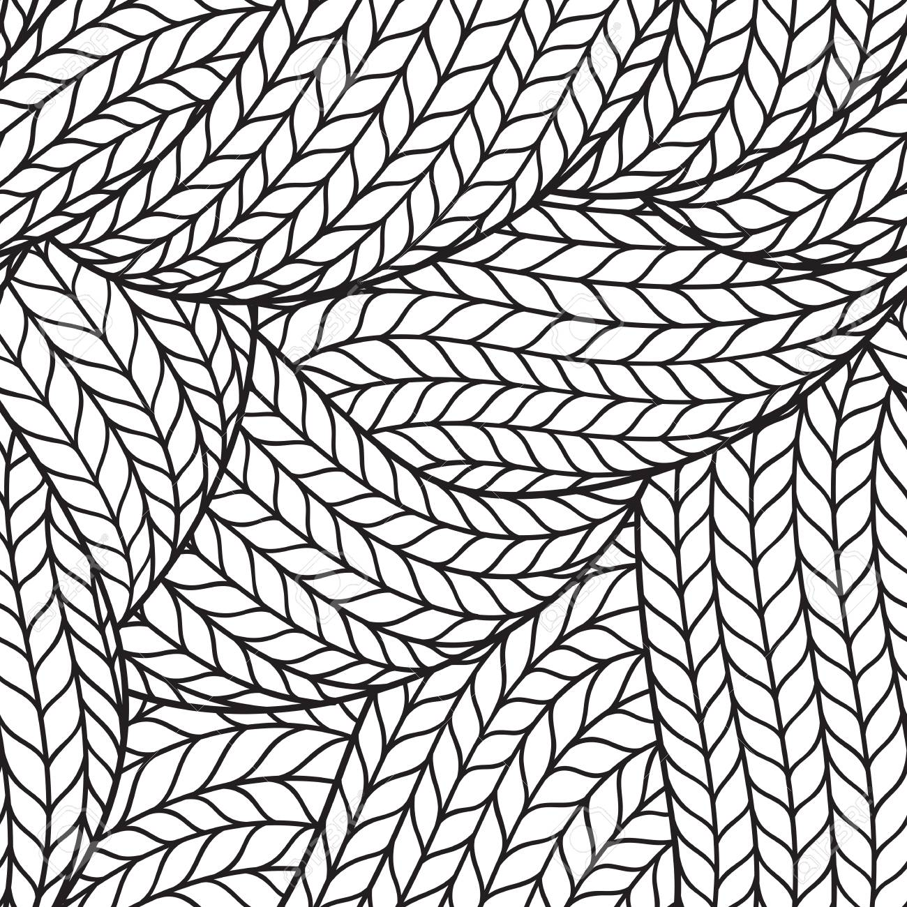 1300x1300 Abstract Monochrome Hand Drawn Abstract Seamless Pattern