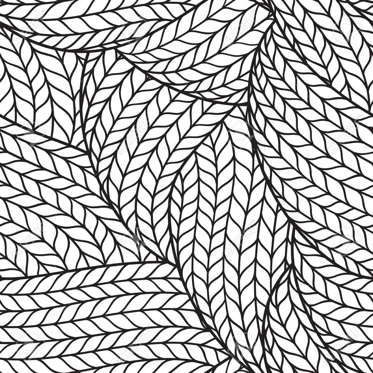 1300x1300 Seamless Pattern For Coloring Book For Adult Abstract Monochrome