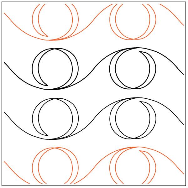 600x600 Wavy Line Swirl Quilting Pantograph Pattern By Darlene Epp