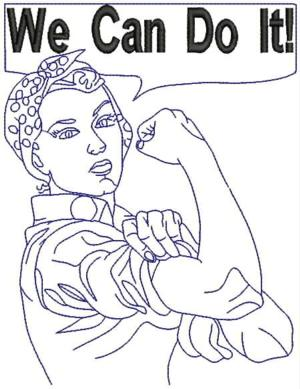 We Can Do It Drawing