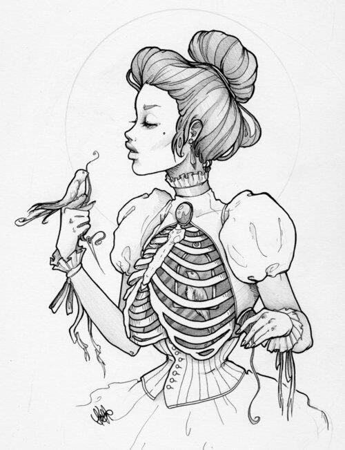 500x651 Skeleton Bride
